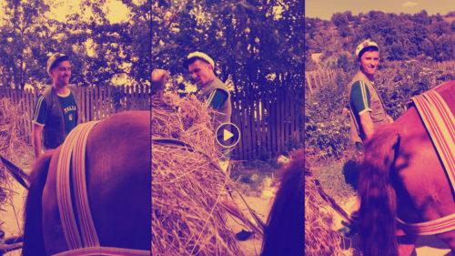 Cel mai tare clip Kiki Challenge vine de la un moldovean cu o căruță