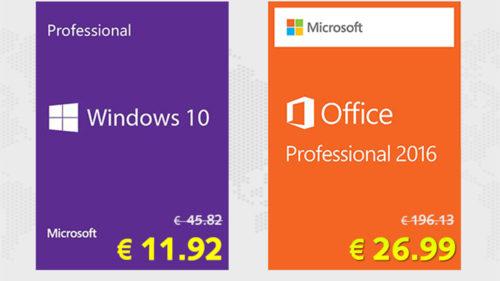 [Oferte bune] Reducere 10% pentru Windows 10 Pro la 11,92 de euro și Office 2016 la 29,99 euro cu SCDKey!