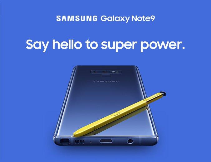 samsung galaxy note 9 precomandă