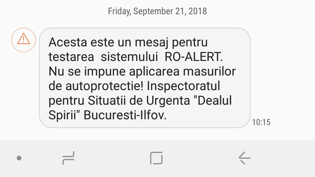 Ro alert Test in Romania (5)