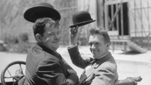 Image result for laurel and hardy saying goodbye