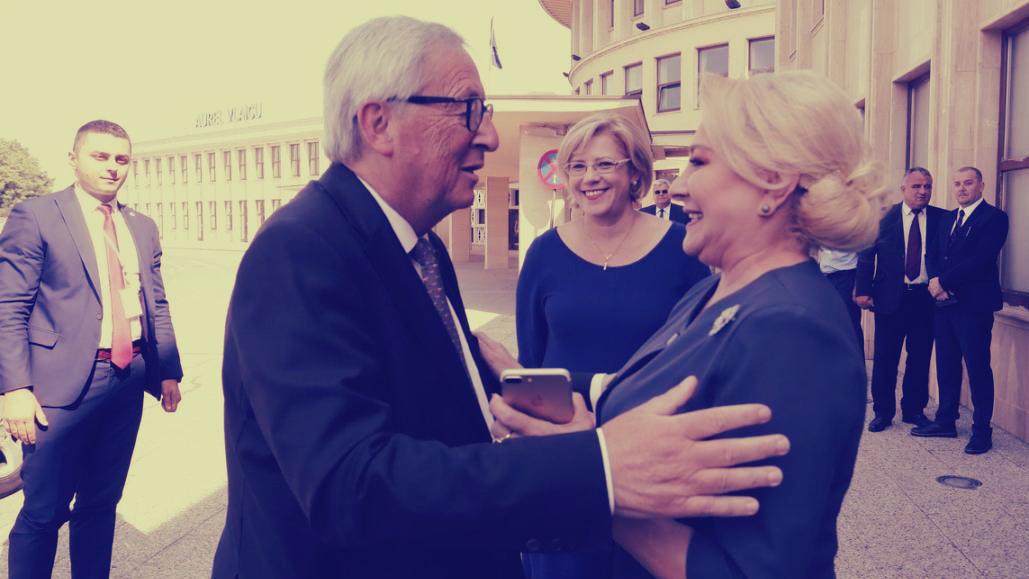 Viorica Dancila Claude Juncker iPhone telefon