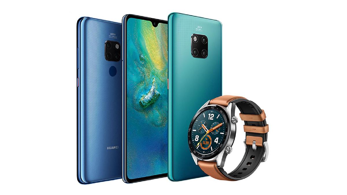 Huawei Mate 20 Pro și un ceas inteligent de la Huawei