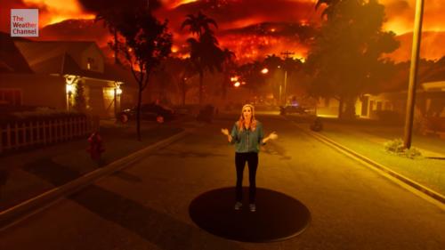 Clipul care îți arată ce se întâmplă când ești în mijlocul unui foc imens