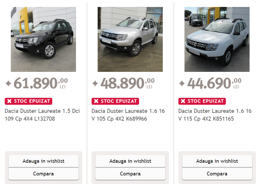 Dacia Duster Black Friday Altex