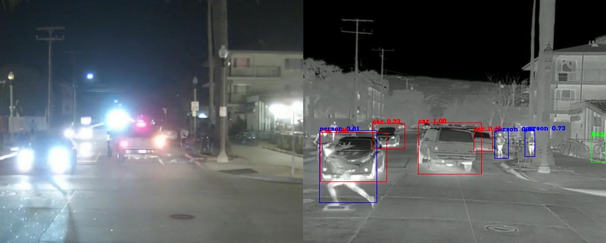 masini autonome camera video termica