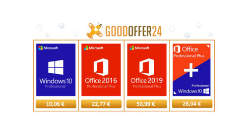 Oferte software: Windows 10 Pro la 10,06 euro, Office 2016 Pro la 22,77 euro și un joc la preț bun (P)