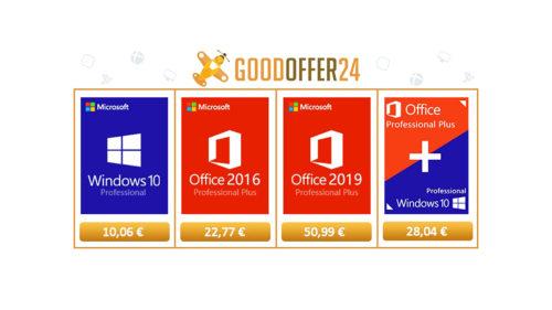 Oferte software: Windows 10 Pro la 10,06 euro, Office 2016 Pro la 22,77 euro și un joc la preț bun (P)