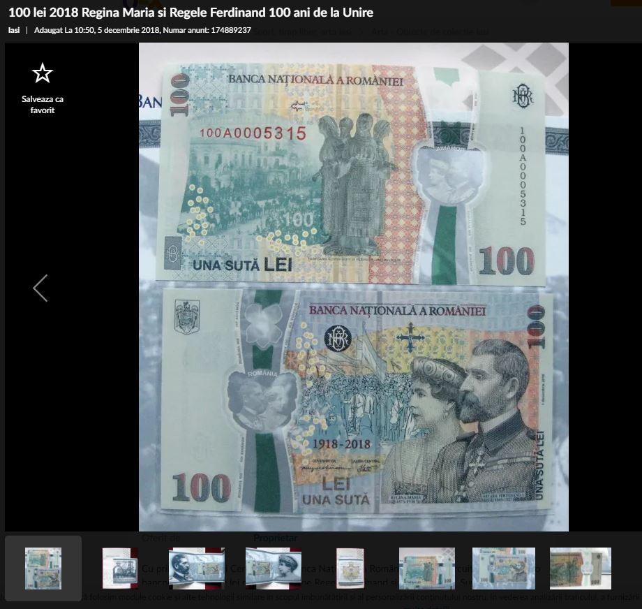 bancnota 100 lei olx