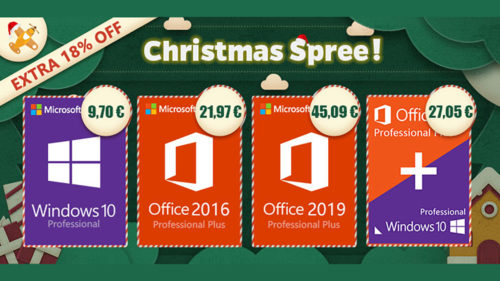 Oferte software de Crăciun! Pachet Windows 10 Pro & Office 2016 Pro la 27,05 euro (P)