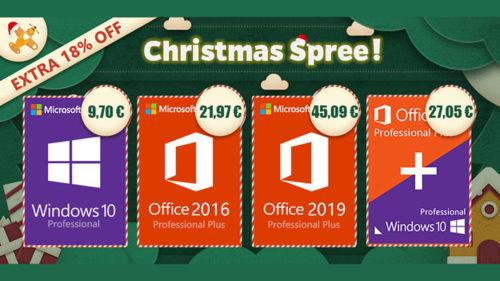 Oferte software de Crăciun! Pachet Windows 10 Pro & Office 2016 Pro la 27,05 euro (P)