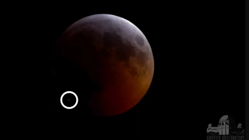 Meteoritul care a lovit Luna în timpul eclipsei totale e spectaculos