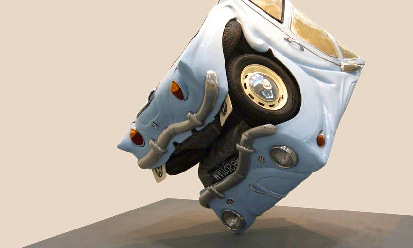 volkswagen beetle sfera arta sculptura