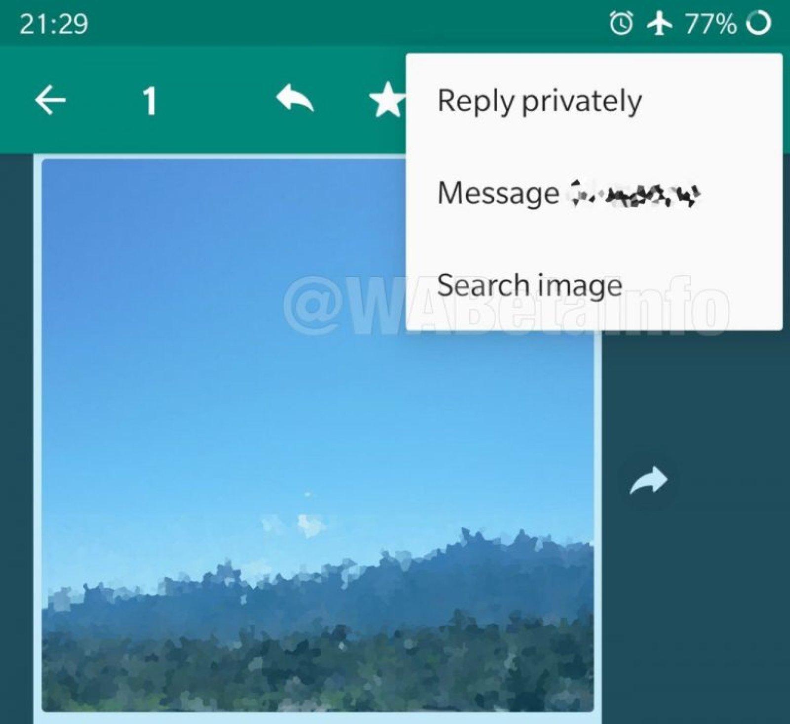 WhatsApp Google cautare imagine