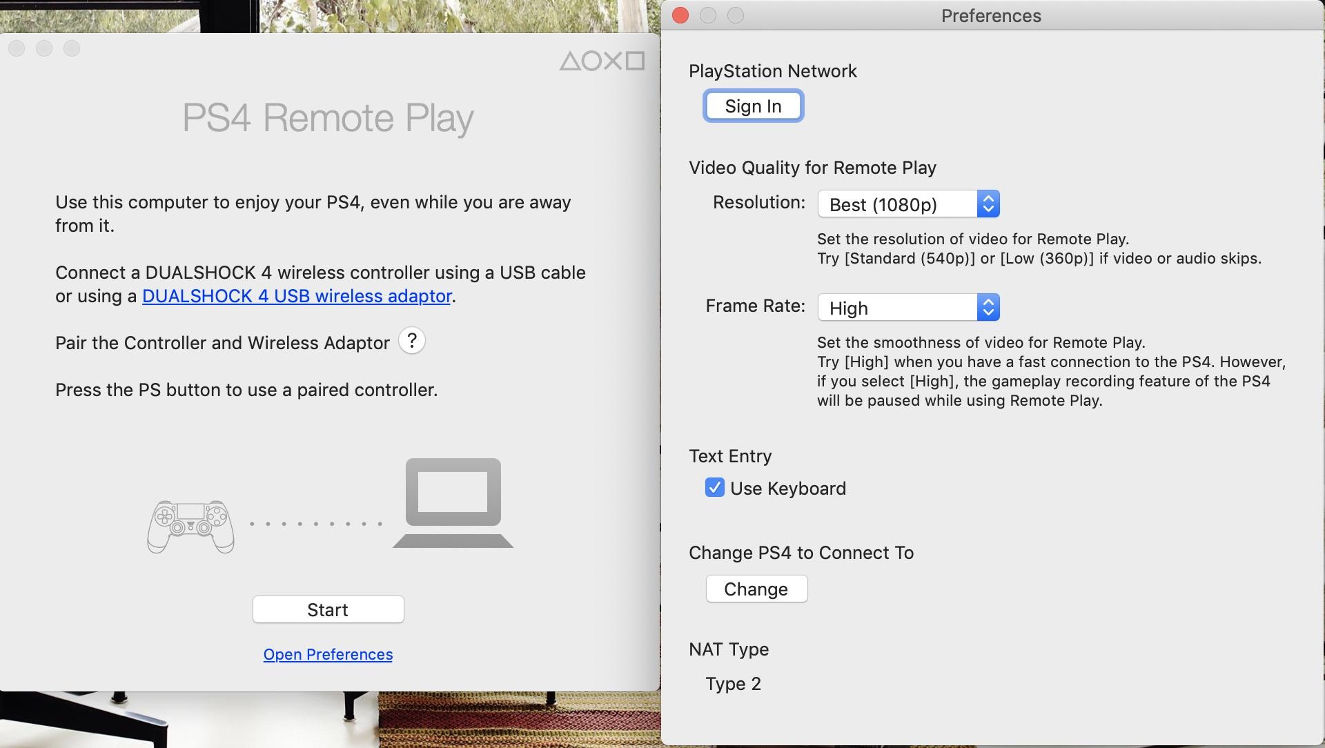 ps4 remote play configurare
