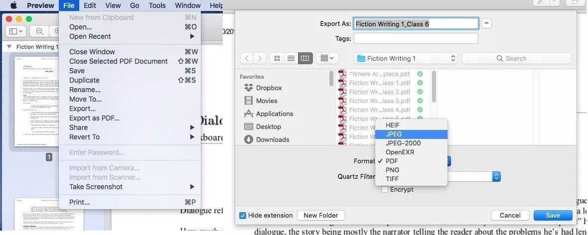 macos Cum transformi un PDF în JPG