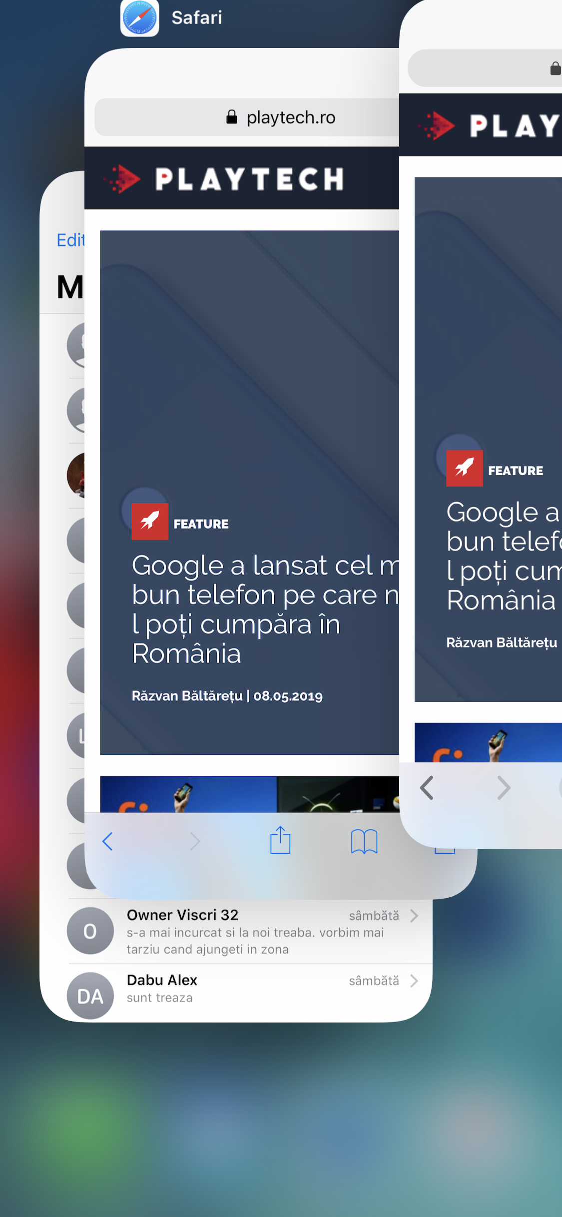 Închide mai rapid aplicații pe iPhone