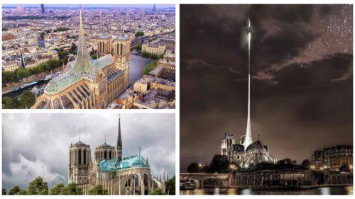 Cum își imaginează mai mulți arhitecți că ar trebui să arate Notre-Dame reconstruită