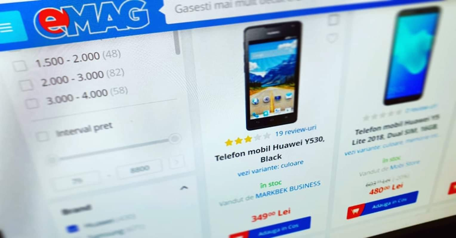 The Huawei phones at eMAG with the