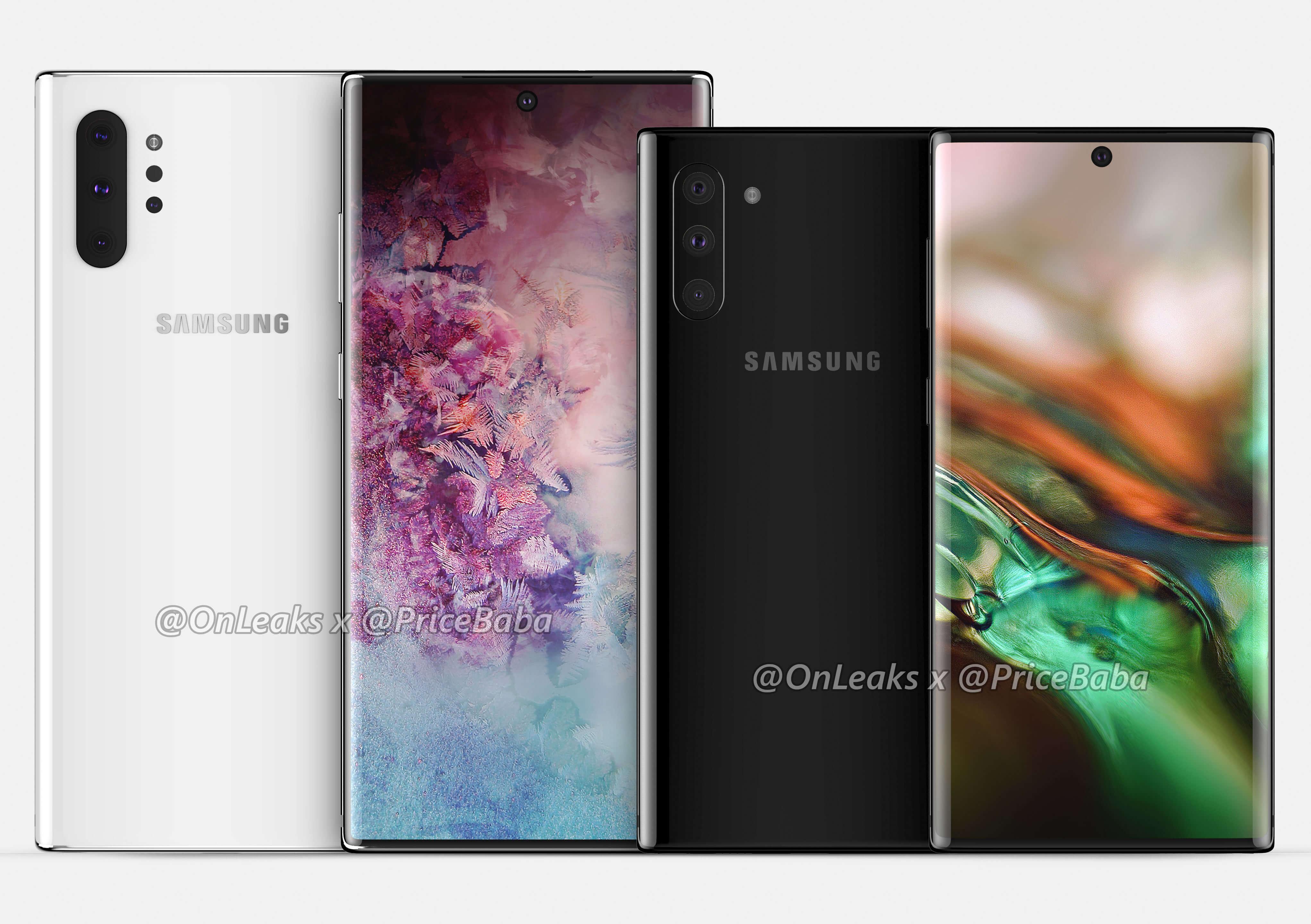 Samsung Galaxy Note 10 în cele mai noi imagini, îți confirmă cum va arăta noul telefon de top al companiei