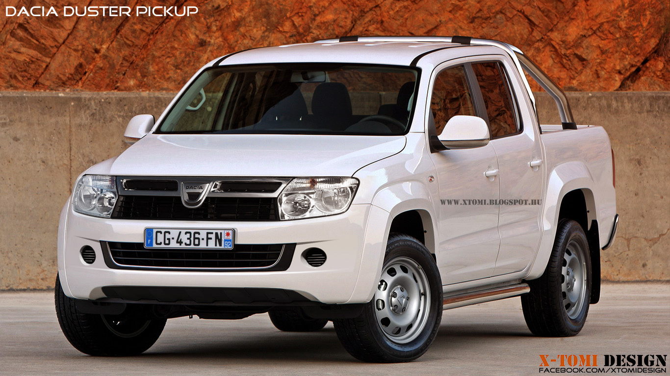 Dacia Duster pick-up alb