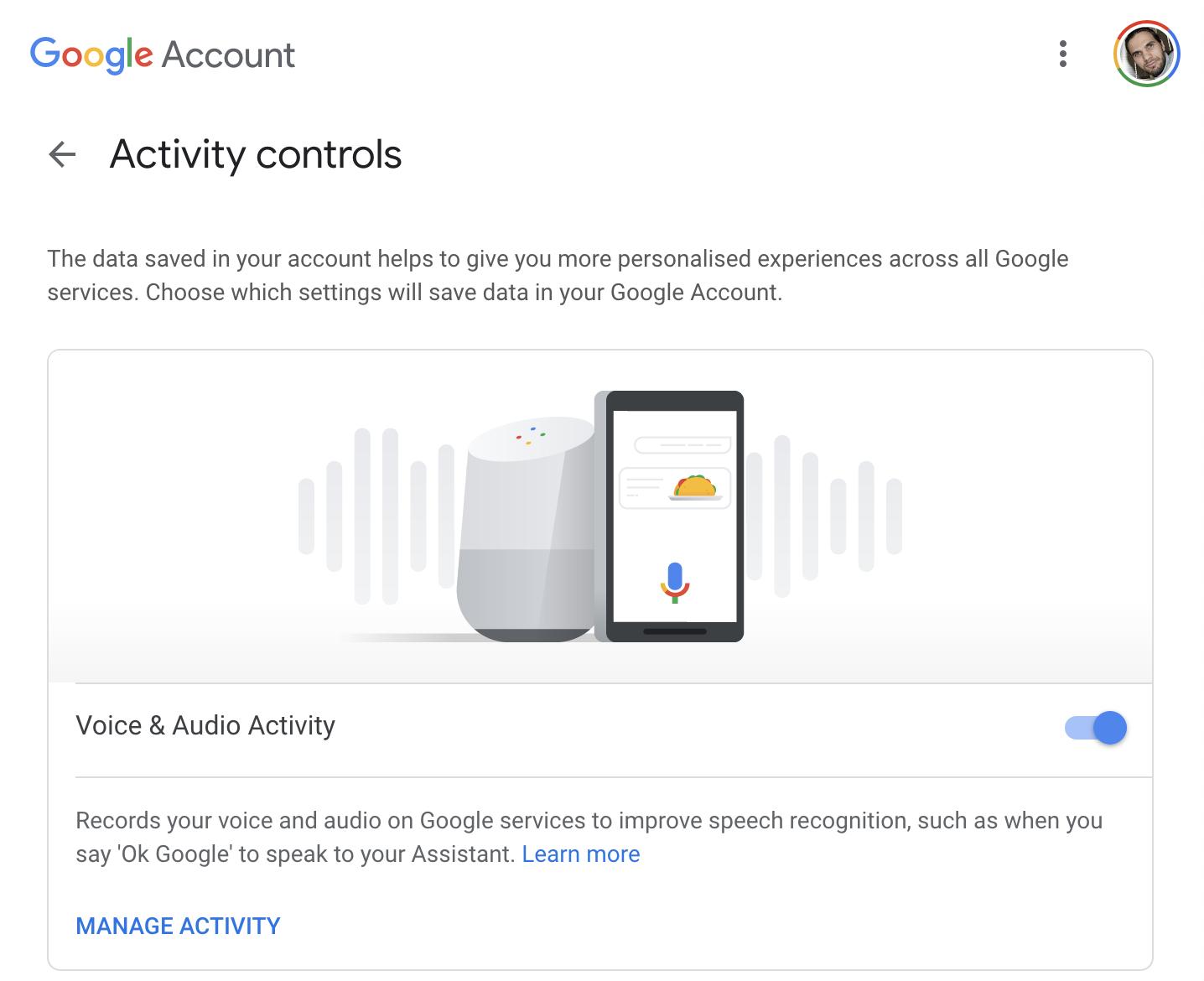 Google inregistrari audio