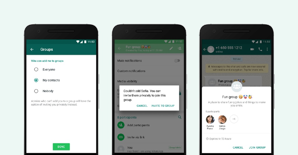 Schimbare WhatsApp setare confidentialitate grupuri