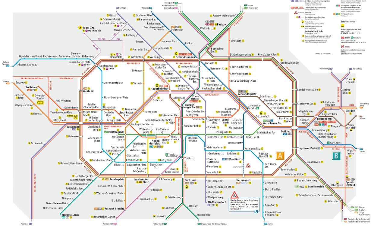 harta metrou Berlin