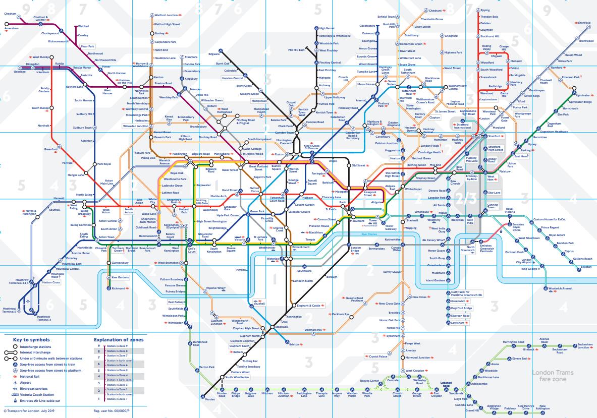 cele mai complexe rețele de metrou Londra
