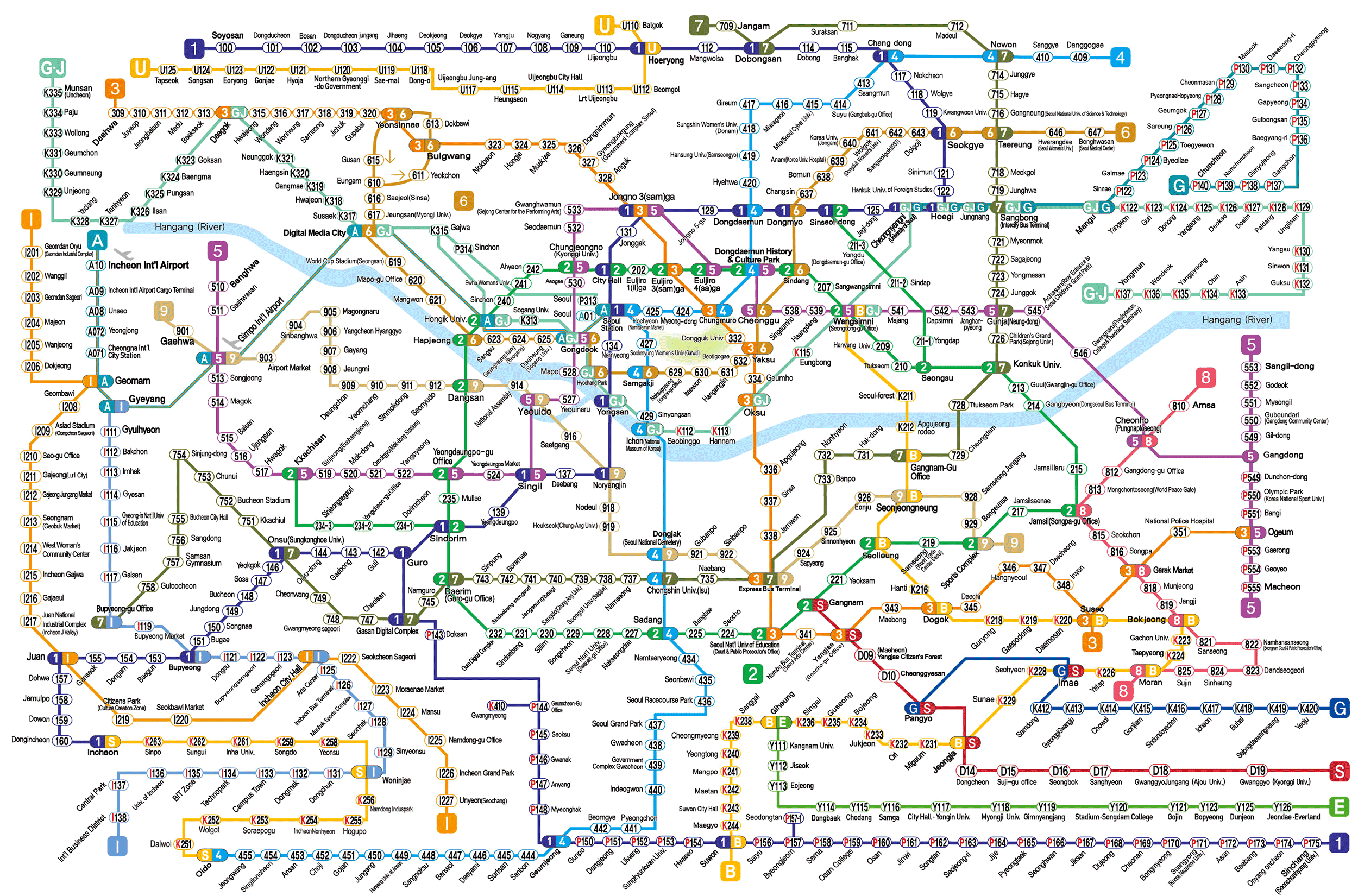 harta metrou Seoul