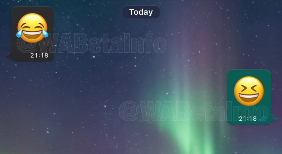 WhatsApp dark mode iOS chat