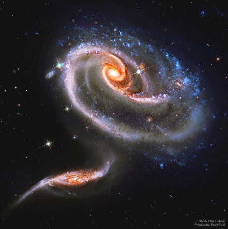 nasa galaxii ciocnire