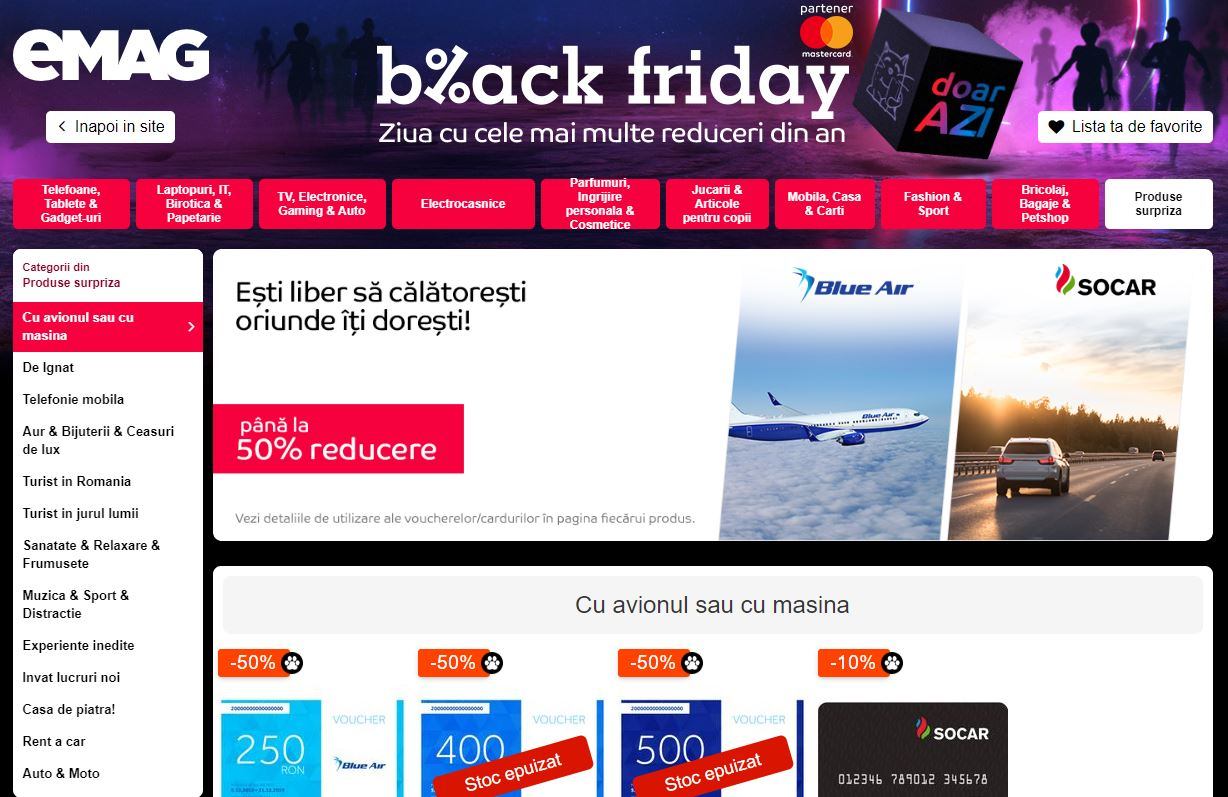black friday emag surprize blue air