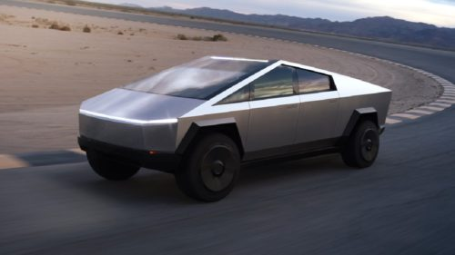 FOTO Unul dintre primele exemplare Cybertruck, surprins într-o fabrică Tesla