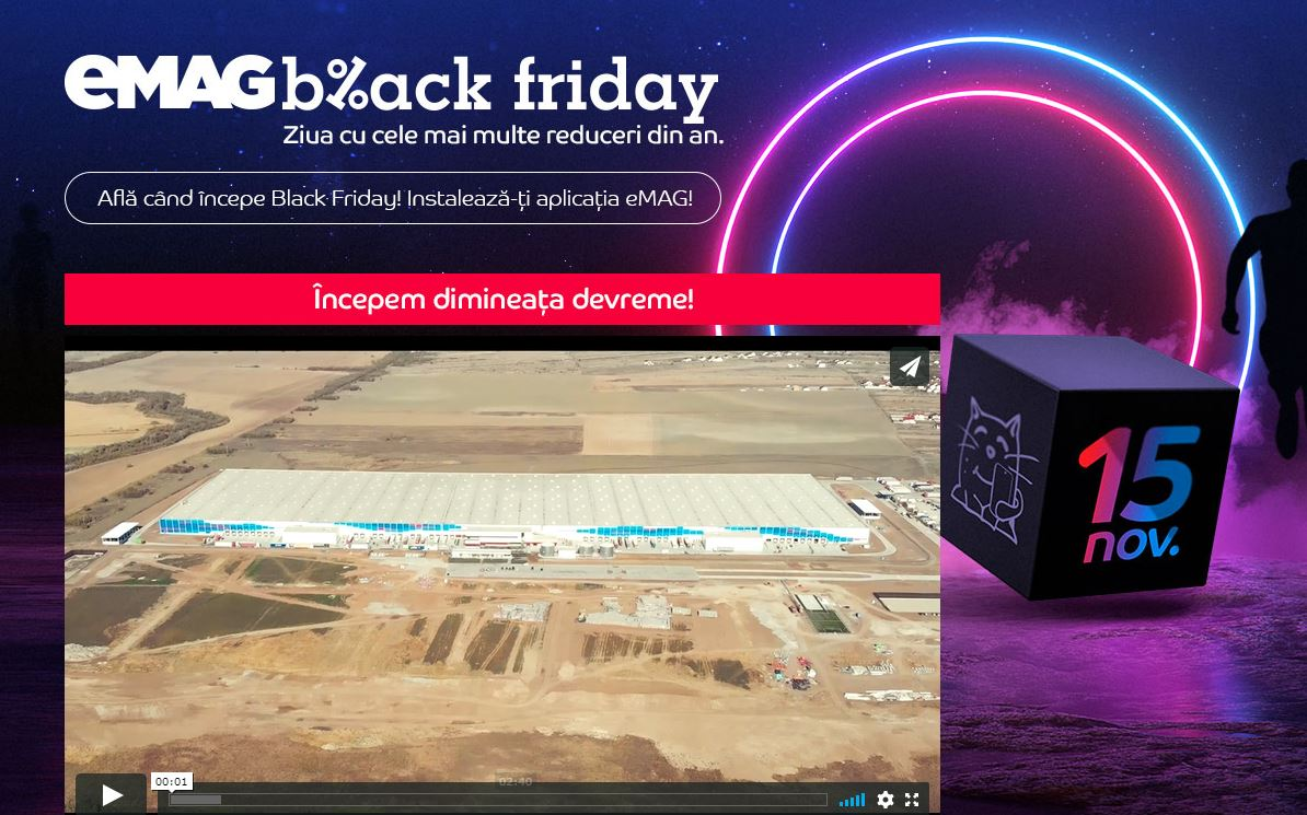 emag black friday site inchis