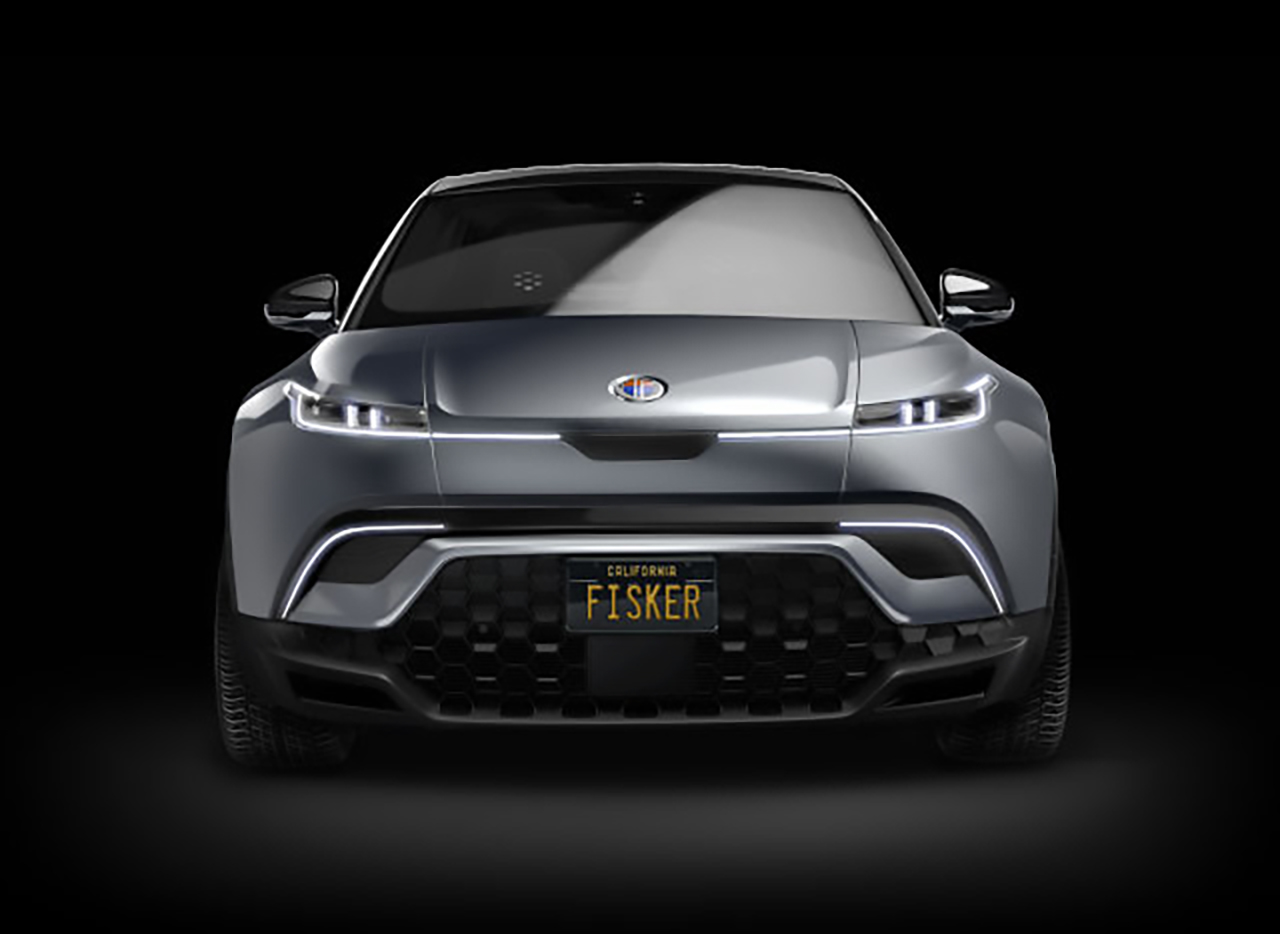 fisker suv electric front