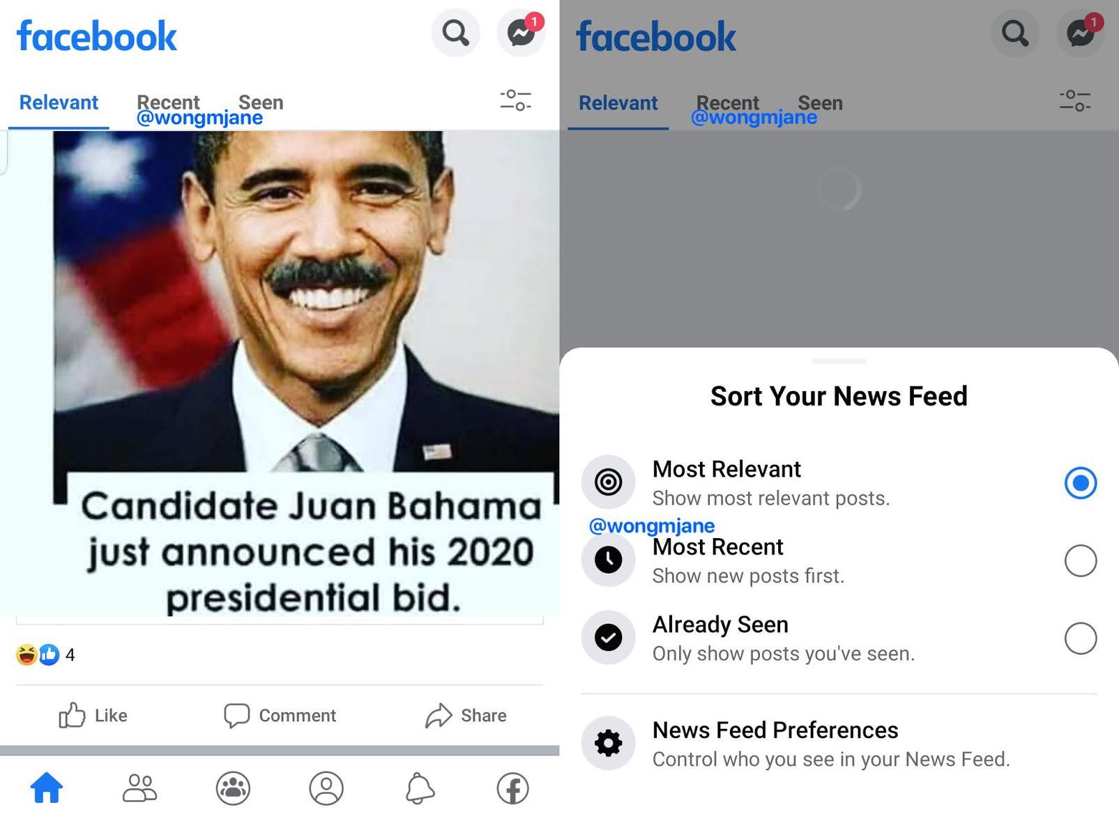 Facebook optiuni noi
