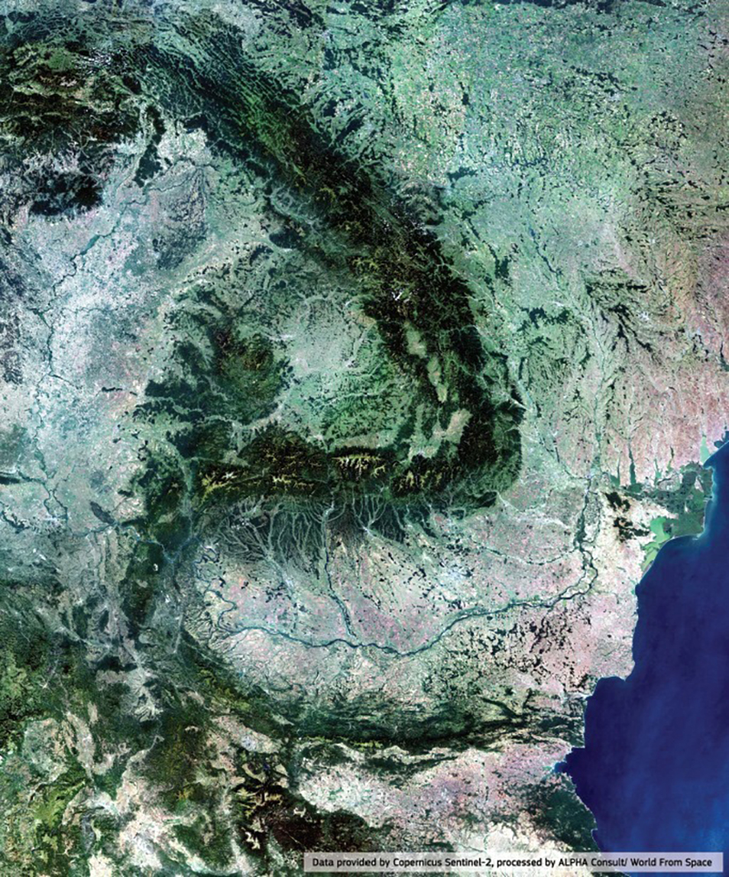 Romania Copernicus Sentinel2 satelit