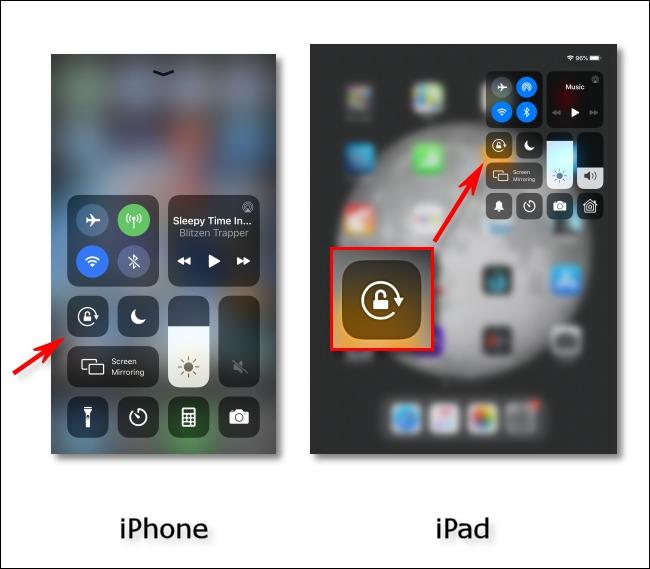 blocare rotire ios ipad iphone