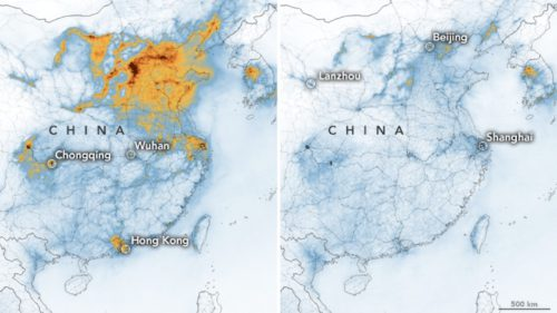 NASA îți arată legătura dintre coronavirus și reducerea poluării din China