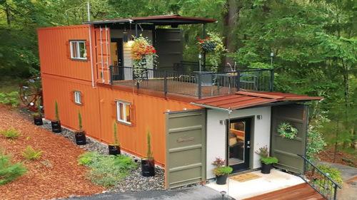 Casa din containere îți taie respirația: nu a fost deloc ieftină