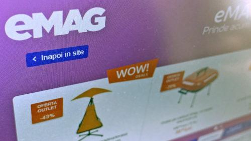 eMAG deja a dezvăluit reducerile momentului: televizor la 500 de lei și multe electrocasnice ieftine
