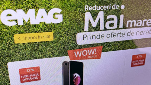 S-a aflat planul eMAG pentru mai: telefoane Samsung ieftine, televizoare de la 450 lei și produse necesare la preț mic