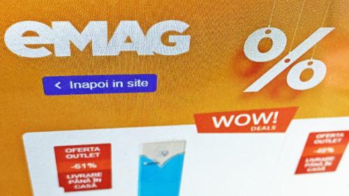 Se întâmplă la eMAG: televizoare de la 700 de lei și telefoane Samsung, Huawei la prețuri mai mici