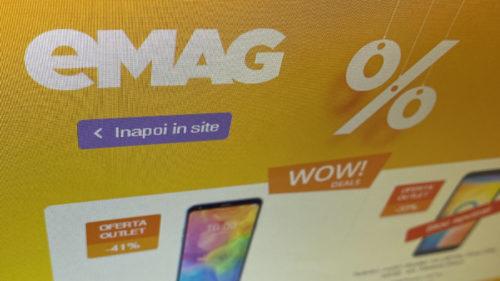 Apare fix când intri pe site-ul eMAG: televizoare de la 500 de lei, telefoane Huawei la preț de chilipir și o categorie surpriză