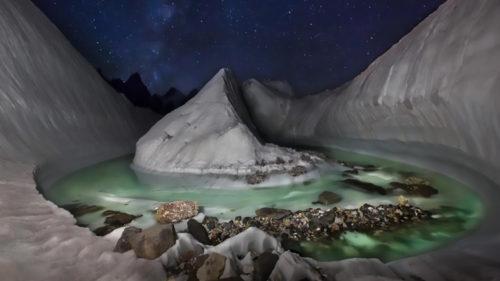 Un ghețar unic din Himalaya, descoperit cu o dronă: de ce este special