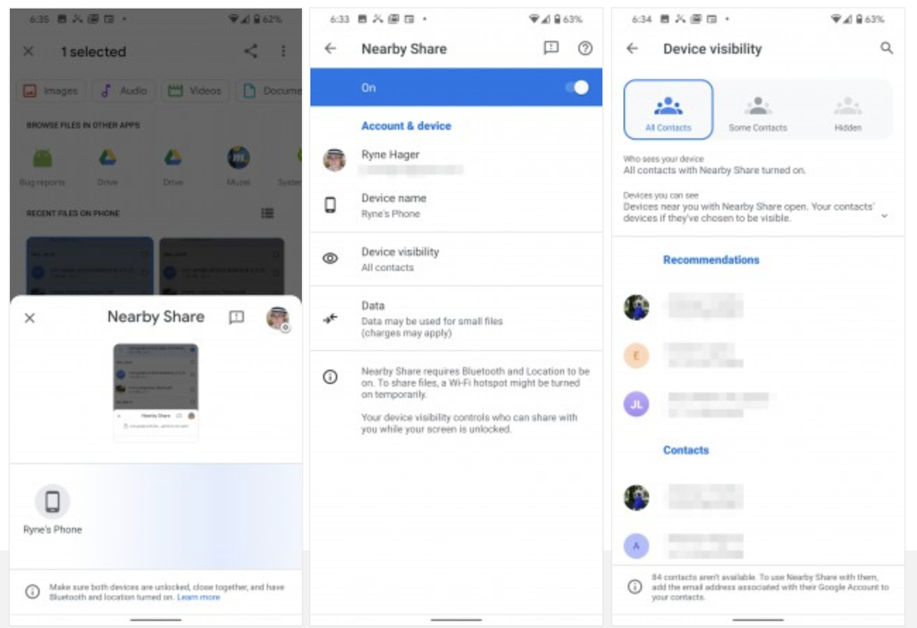 google nearby share