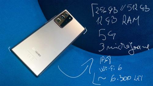 Galaxy Note 20, la coada clasamentului: face poze mai prost decât Galaxy S20