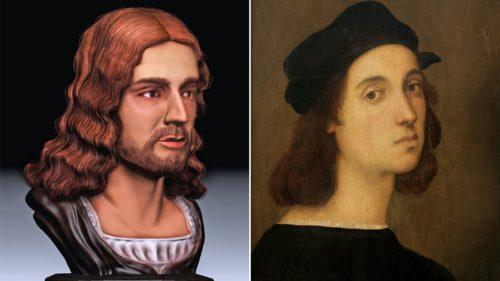 Cum arată pictorul Rafel, în realitate: fața sa, reconstruită în 3D