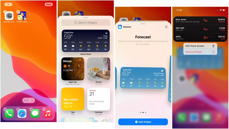 Cum adaugi widget iOS 14 iPhone